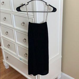 Black sparkled mini dress